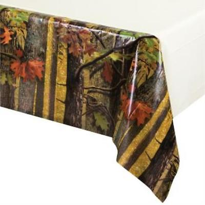 Hunting Camo Plastic Tablecloth, 2PK