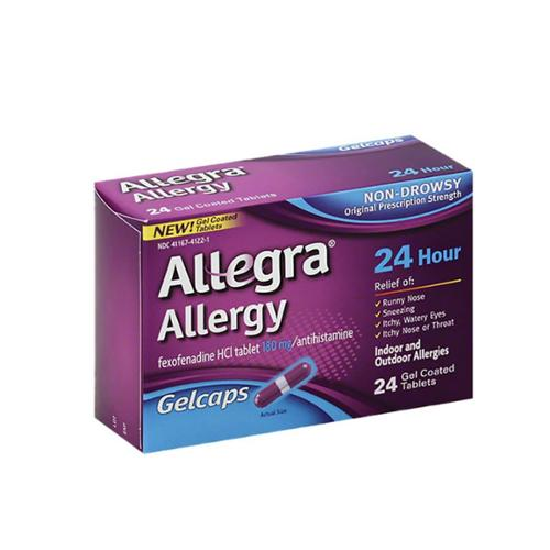 Allegra 24 Hour Allergy, Gelcaps 24 ea (Pack of 2)