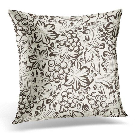 CMFUN Grape Vine Wine Leaf Vineyard Grapevine Sketch Pillow Case Pillow Cover 20x20 inch