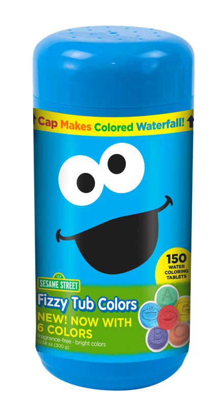Sesame Street Fizzy Tub Color Tablets Assorted Bathwater Colors 150 Ct -  Walmart.com - Walmart.com