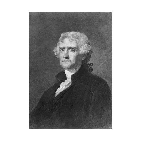 Jefferson Portrait (Portrait of Thomas Jefferson Print Wall Art By Philip)