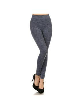 9eeaa99f764a3 Product Image Women Fleece Lined Leggings Solid High Waist Strechy Leggings  Athleisure Pants - Navy
