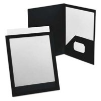OXFORD Portfolio,Polypropylene,Black/Clear 57442