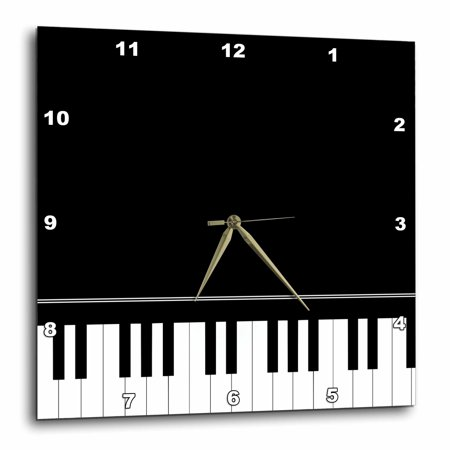Grand Slam Player (3dRose Black piano edge - baby grand keyboard music design for pianist musical player and musician gifts, Wall Clock, 15 by 15-inch )
