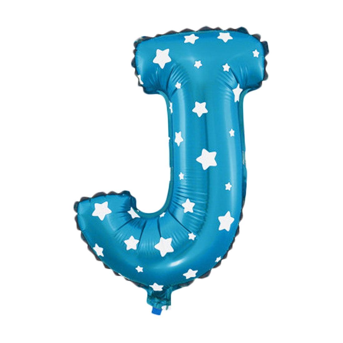 """Unique Bargains 16"""" Blue Foil Letter J Balloon Helium Birthday Wedding Festival Decor"""