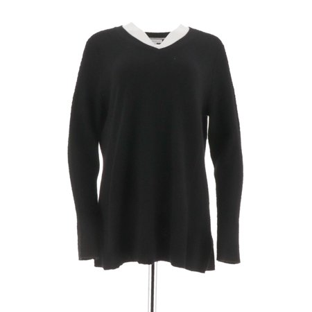 Cashmere Tunic Sweater (Isaac Mizrahi 2-Ply Cashmere V-neck Tunic Sweater A296236 )