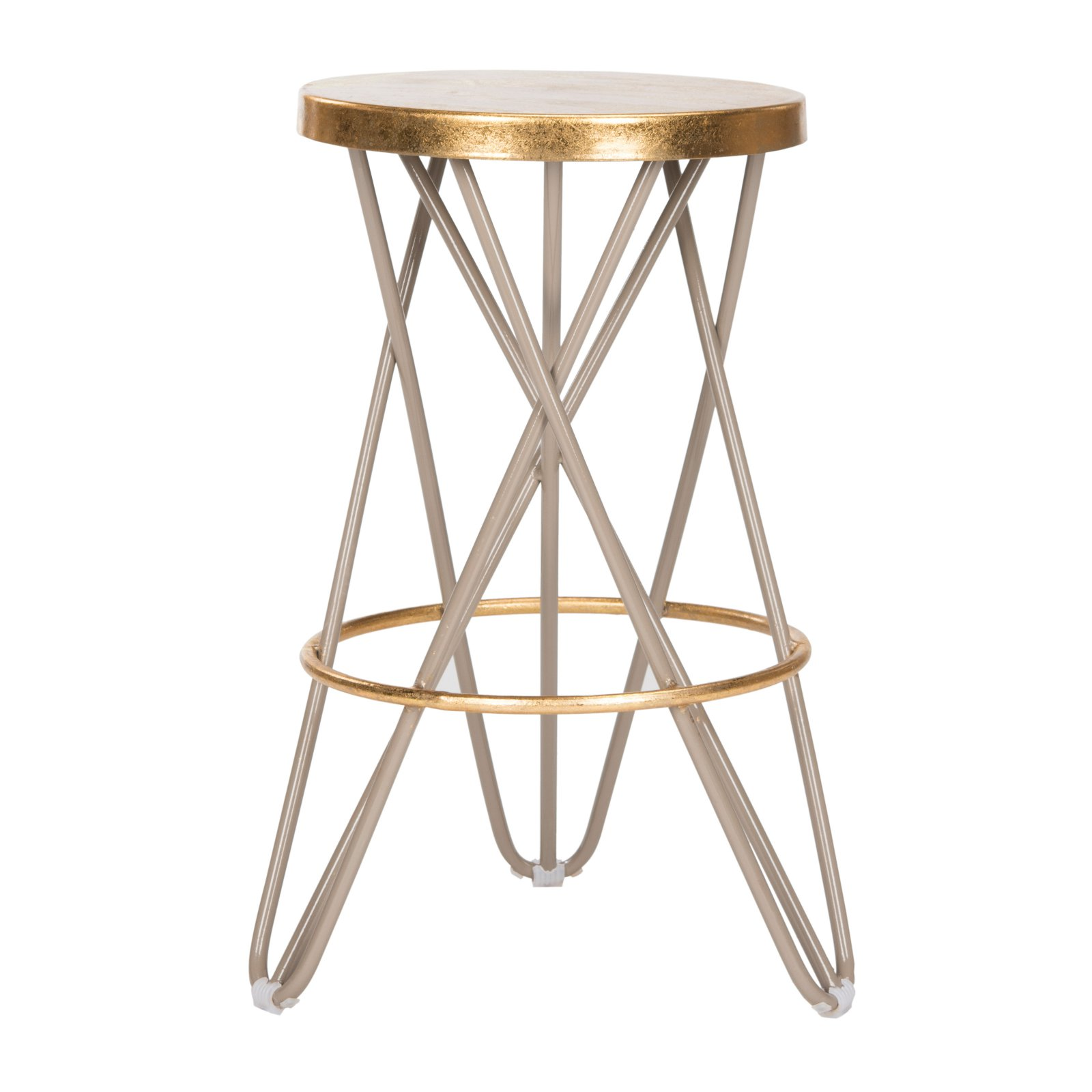 Safavieh Lorna Mid-Century Retro Gold Leaf Counter Stool