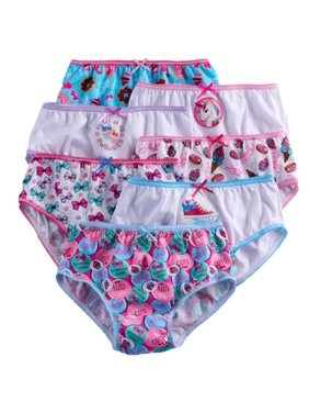 JoJo Siwa, Girls Underwear, 7 Pack Cotton Brief Panties Size 6 (Little Girls & Big Girls)