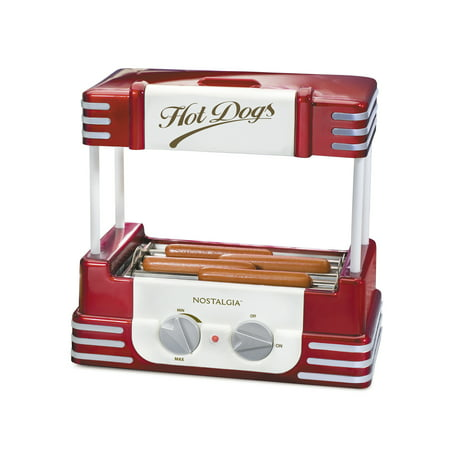 Nostalgia RHD800 Hot Dog Roller and Bun Warmer, 8 Hot Dog and 6 Bun