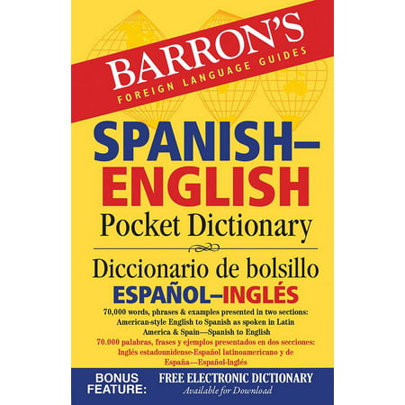 Barron's Spanish-English Pocket Dictionary : 70,000 words, phrases & examples presented in two sections: American style English to Spanish -- Spanish to English](English Halloween Words)