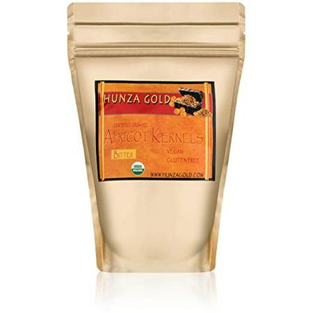 Apricot Kernels/Seeds (1/2 Pound / 227 grams) Hunza Gold Bitter Certified Organic Raw (Organic Apricot Seed Powder)