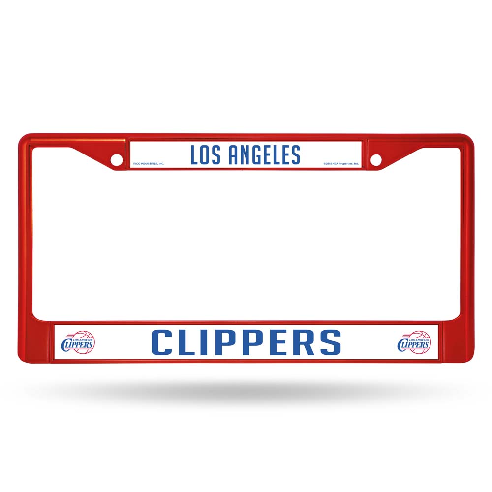 Los Angeles Clippers Metal License Plate Frame - Red