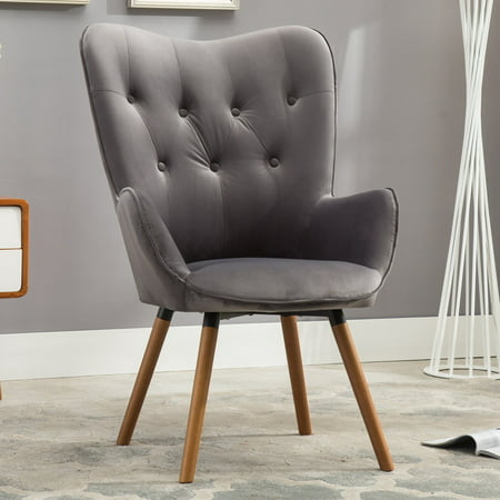 Brilliant Roundhill Furniture Doarnin Contemporary Silky Velvet Tufted Button Back Accent Chair Mauve Forskolin Free Trial Chair Design Images Forskolin Free Trialorg