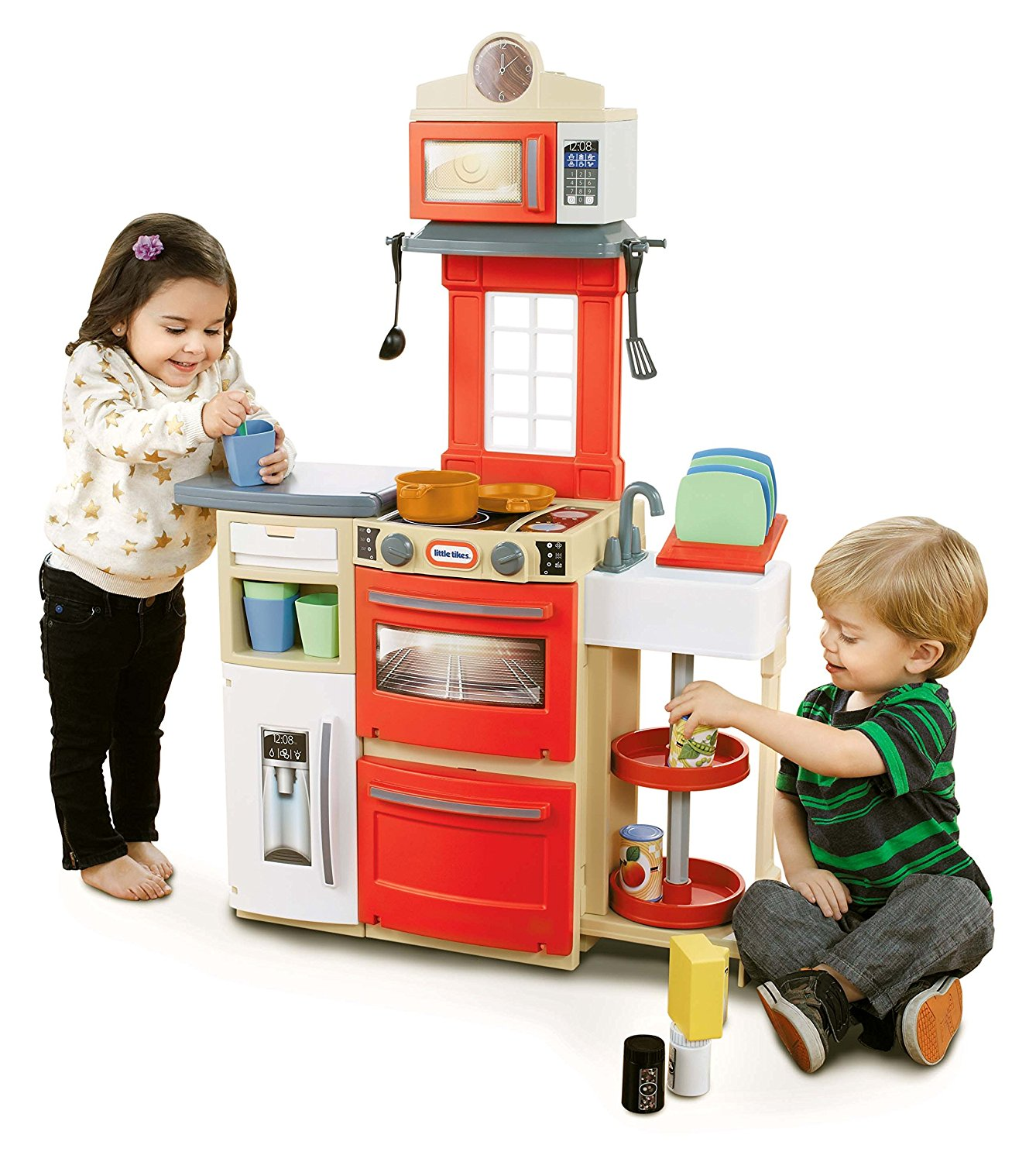 Cook 'n Store Kitchen Playset Red, Ship from America by