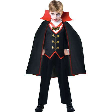 Father-daughter Matching Halloween Costumes (Dracula Costume for Boys, Size Medium, Includes a Shirt with a Matching)