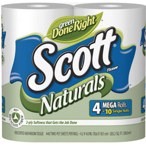 Scott Naturals Bathroom Tissue, 4 ct