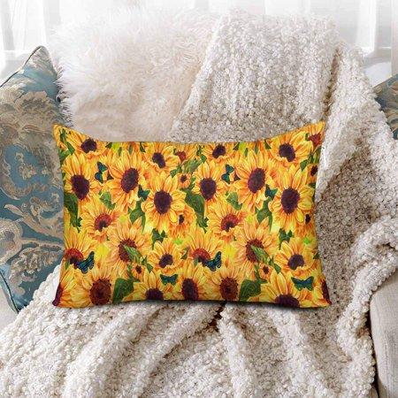 GCKG Summer Warm Sunflower Floral Flower Pillow Cases Pillowcase 20x30 inches - image 2 de 4