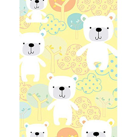 Breezy Baby~Baby Bear Yellow Cotton Fabric by - Benartex Quilt Fabric