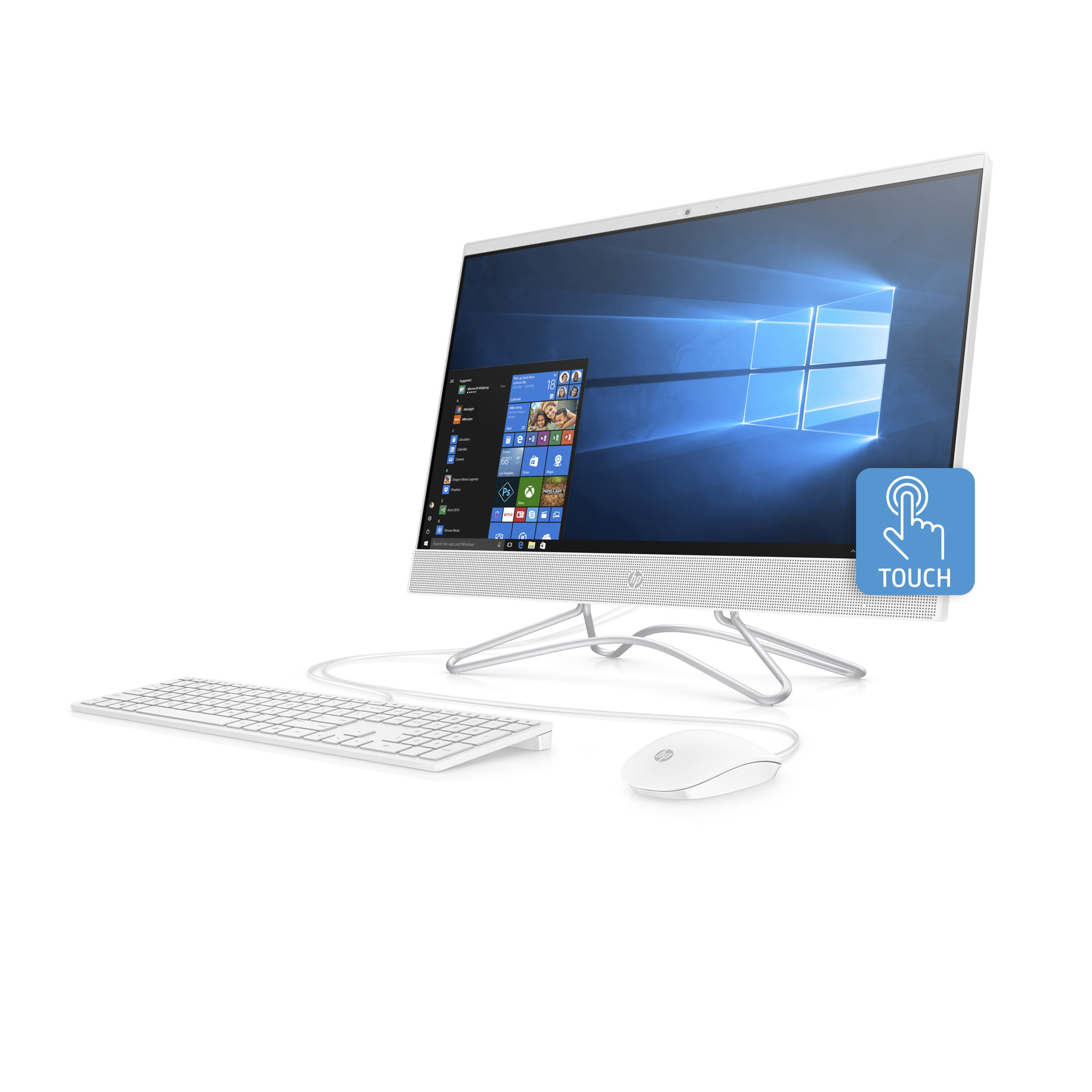 Hp 24 F0040 Snow White Touch All In One Pc Amd A9 9425 Processor 8gb Memory 1tb Hard Drive Amd Uma Graphics Windows 10 Dvd Keyboard And Mouse Walmart Com Walmart Com