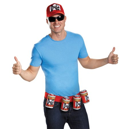 Morris Costumes Mens Tv & Movie Characters Simpsons Duffman One Size, Style DG85373 - Nelson Simpson Halloween