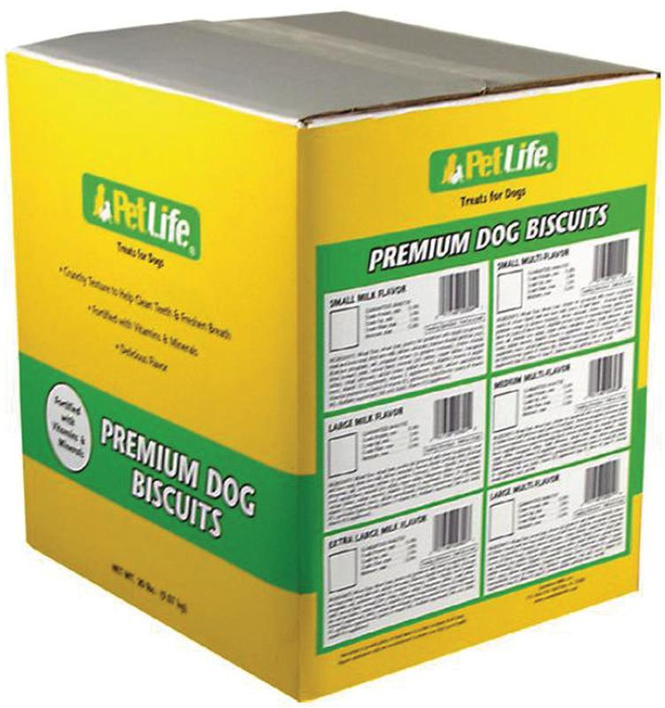 Pet Life 2894 Dog Biscuit, 20 lb, Milk