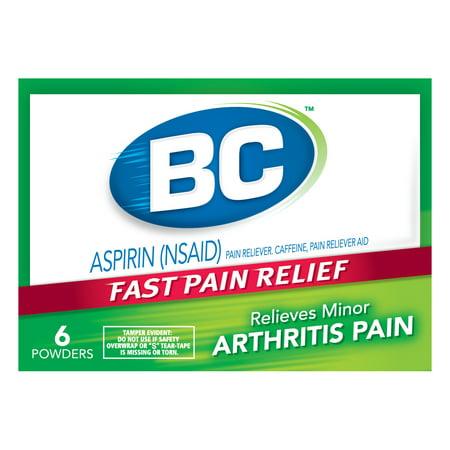 Bc Aspirin Powder Arthritis Pain   6 Ct
