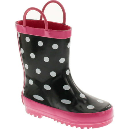 Dot Booty (Foxfire for Kids Black & White Rubber Boots with Polka Dots)
