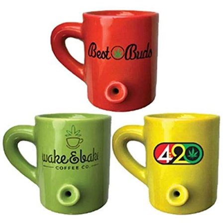 Streamline 4 Oz Lil' Hot Shot Pipe Mug Set of 3 - Halloween Mug Shots