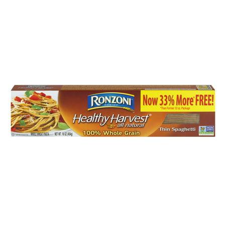 (12 Pack) Ronzoni Healthy Harvest Whole Grain Thin Spaghetti, 16 oz. (Motts Healthy Harvest)