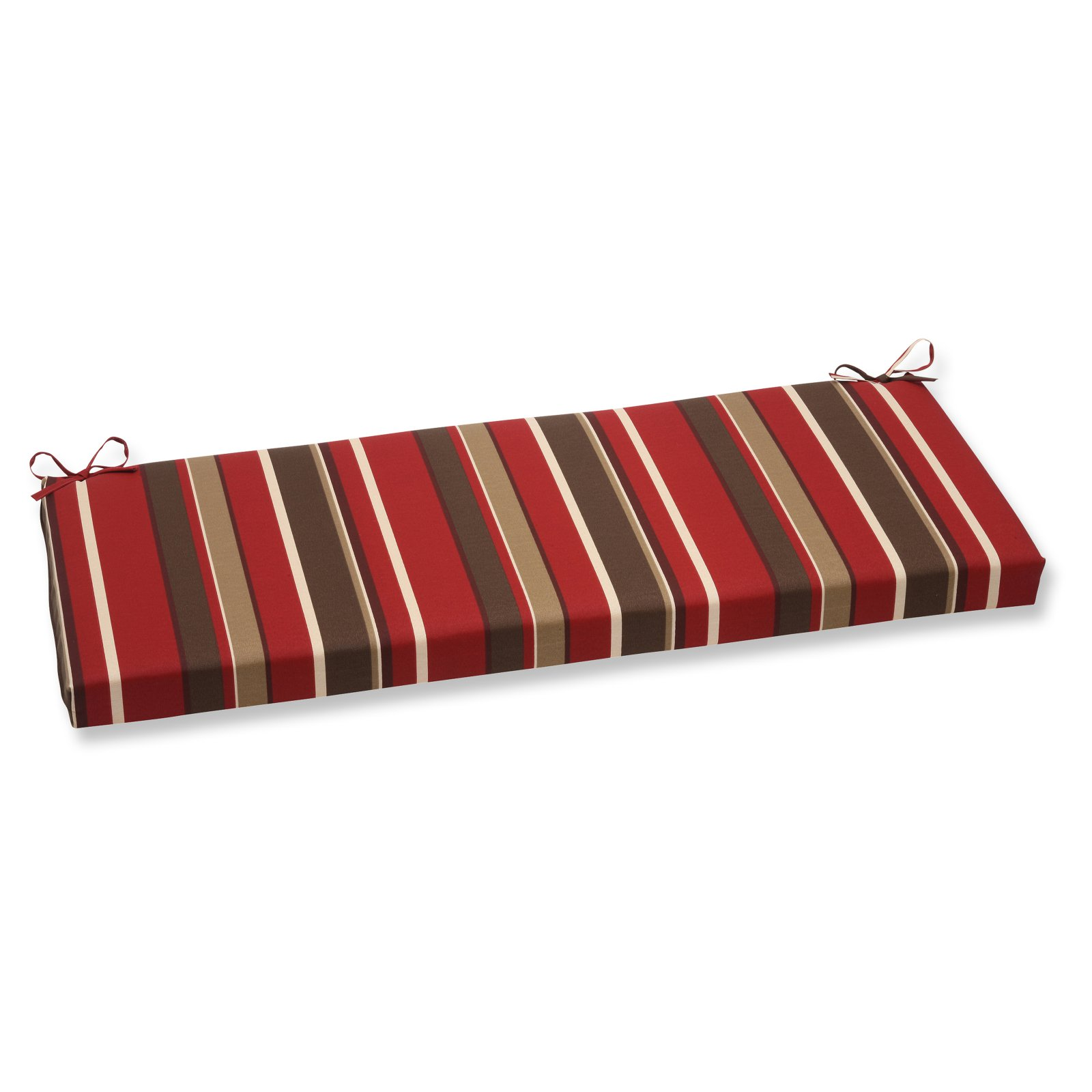 Pillow Perfect Outdoor  Indoor Monserrat Red Bench Cushion by Overstock