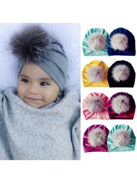 Newborn Toddler Kids Baby Boy Girl Turban Cotton Beanie Hat Winter Warm Soft Cap