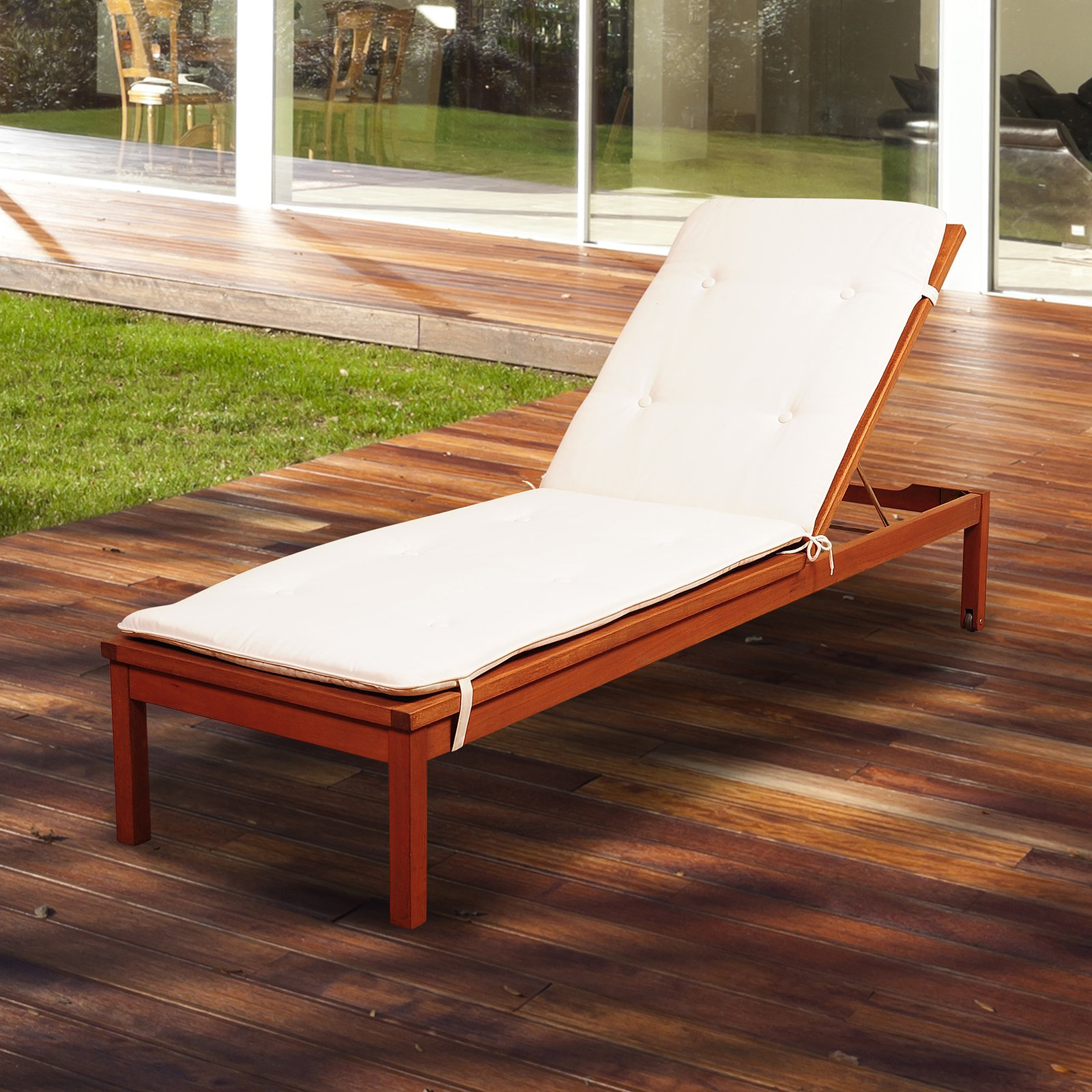 Amazonia Westfield Chaise Lounger with Cushion