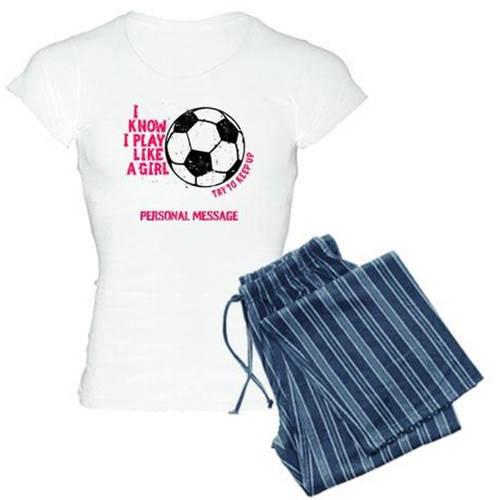 Cafepress Personalized Soccer Girl Women's Light Pajamas