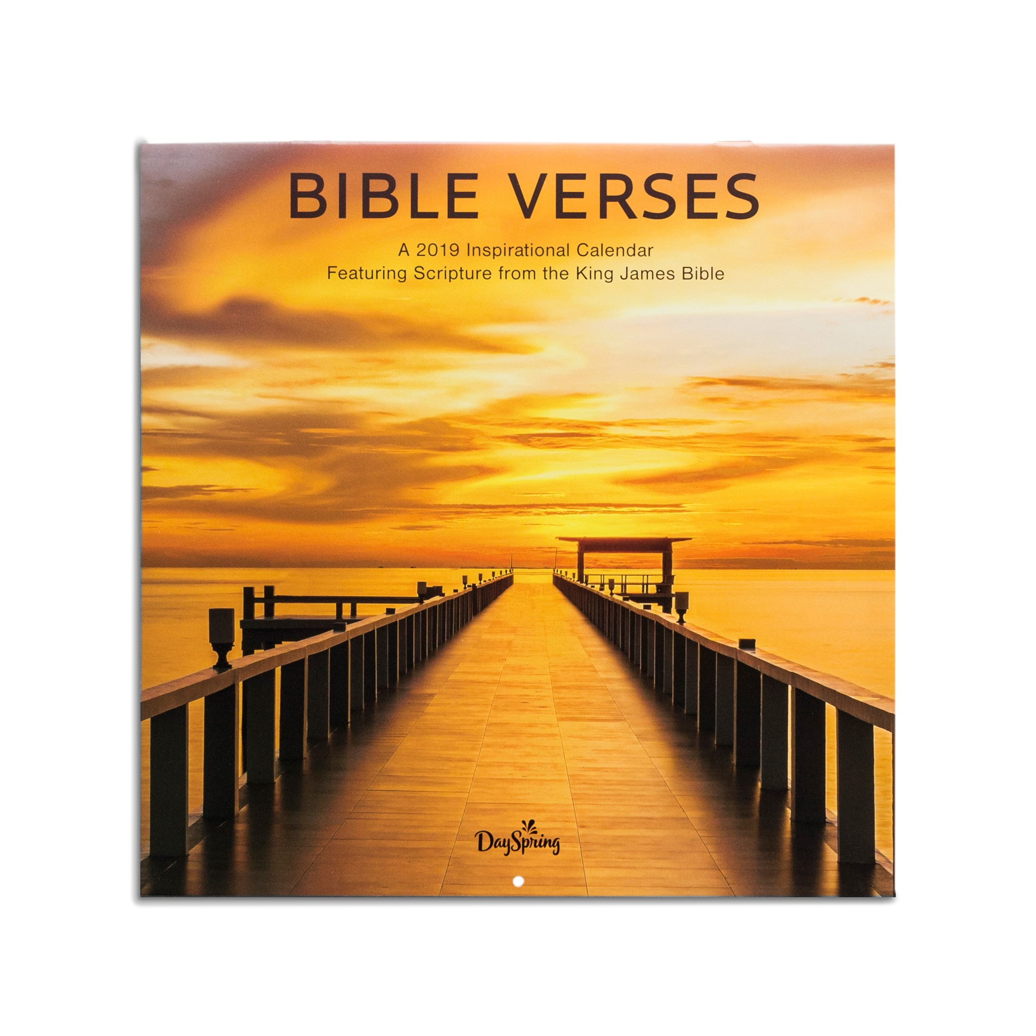 DaySpring  -  DaySpring - Bible Verses, King James Version -  Oceans - 2019 Wall Calendar