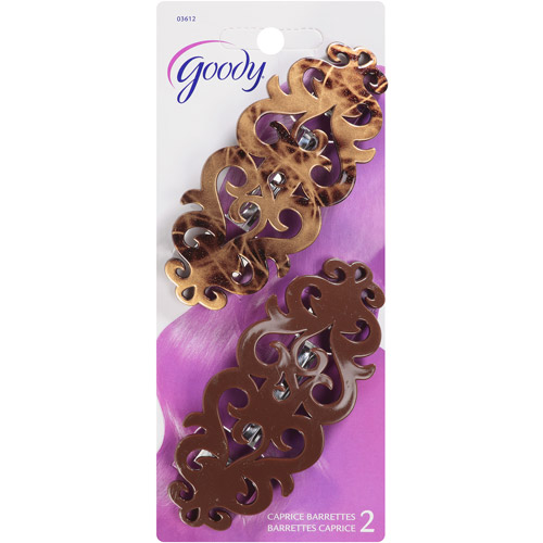 Goody Caprice Barrettes, 2 count (Colors may vary)
