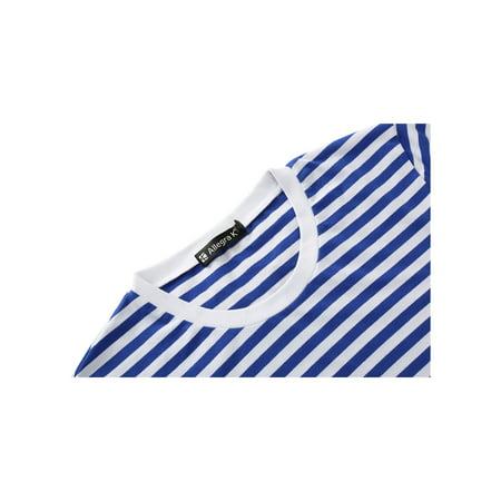 Allegra K Homme Encolure Torsadée Manches Longues Motif Rayé T-shirt - image 6 de 7