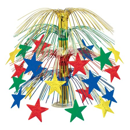 Club Pack of 6 Multi-Colored Cascade Star Cut-Out Table Centerpiece Decoration 18
