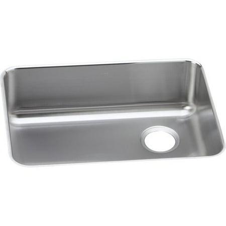 Bowl Gourmet Sink - Elkay ELUH231710R Gourmet Lustertone Stainless Steel Single Bowl Undermount Sink