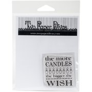 Two Paper Divas Clear Stamps 6 Inch X 4.5 Inch-More Candles