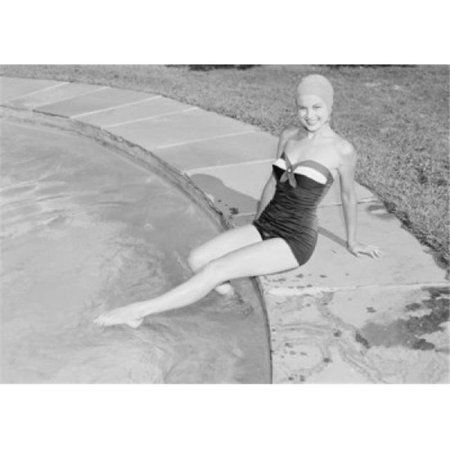 Posterazzi SAL255419033 Young Woman in Swimwear at Poolside Poster Print - 18 x 24 in. - image 1 de 1