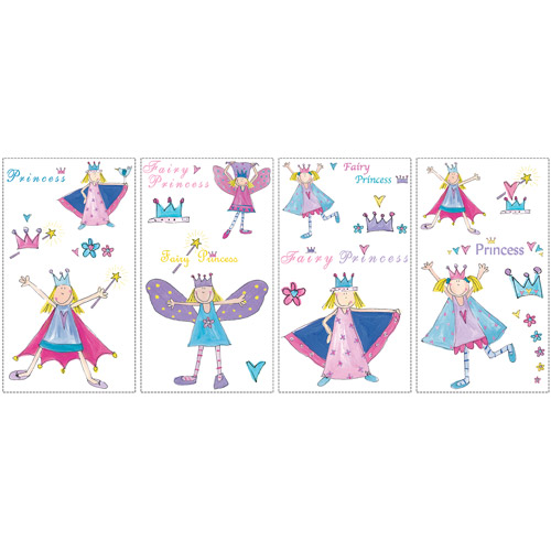 RoomMates Fairy Princess Peel and Stick Wall Decals