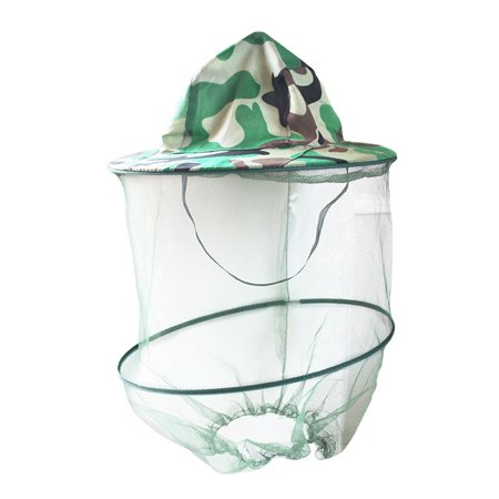 Face Nut - Anti Mosquito Net Fishing Hat Head Mesh Cover Fisherman Beanie Beekeeping Camping Mask Face Protect Caps for Aotu