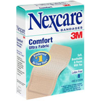 Nexcare Comfort Fabric Bandages Knee and Elbow 8 Each