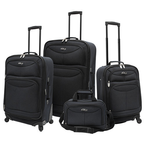 U.S Traveler Fashion Spinner 4-Piece Luggage Set