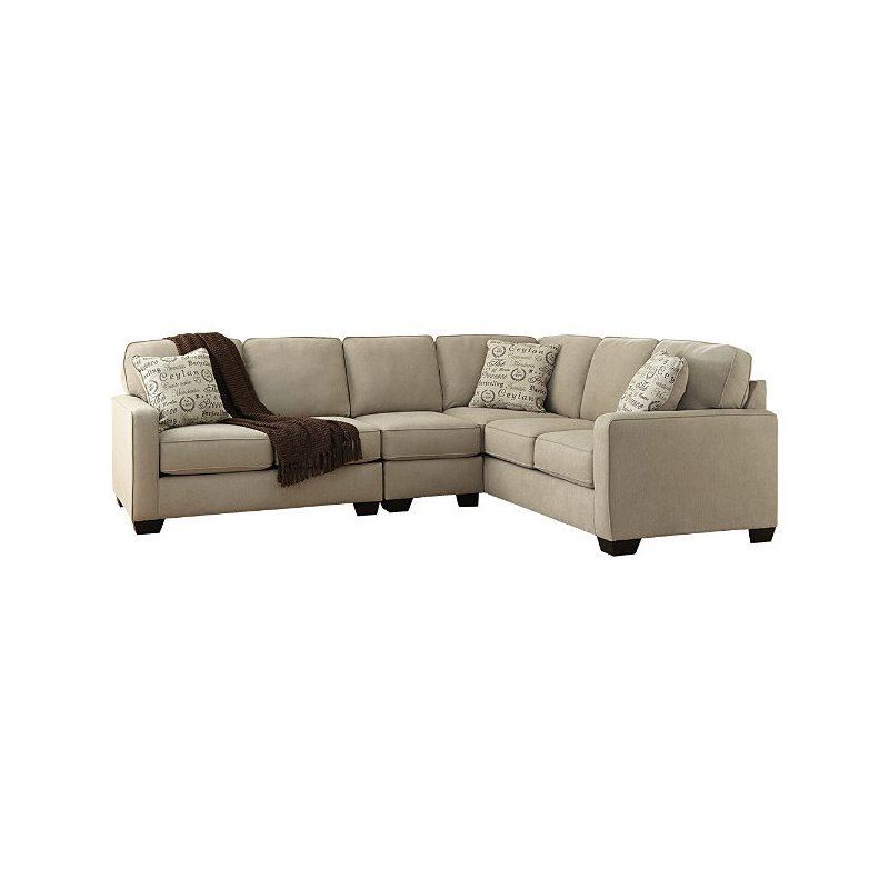 Ashley Furniture Alenya 3 Piece Sectional Sofa in Quartz by Ashley Furniture