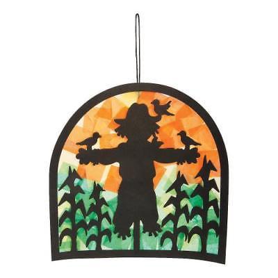 IN-13747365 Scarecrow Scene Tissue Paper Craft Kit (Scarecrow Crafts)