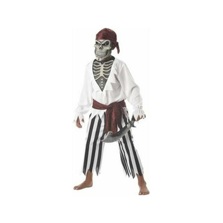 Child's Scary Skeleton Pirate Costume ()