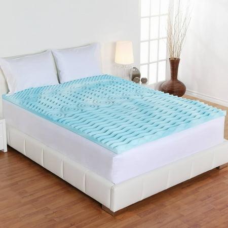 novaform comfortluxe gel memory foam mattress topper. authentic comfort 3-inch orthopedic 5-zone foam mattress topper novaform comfortluxe gel memory m