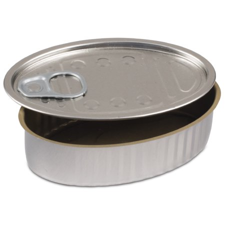 Comatec Oval Sardine Tin with Pull Tab Lid - 4oz Capacity 100 Pack