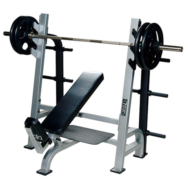 York Fitness Worldwide 54038 Olympic Incline Bench with G...